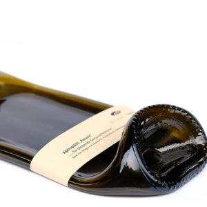 geschmolzene Weinflsche