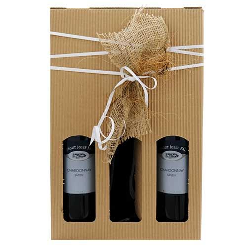 originelles Geschenk aus Flaschenschale und Weisswein