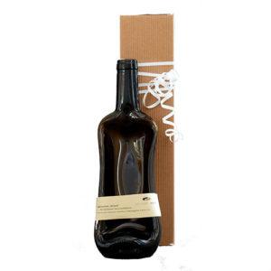geschmolzene Flasche als Geschenk