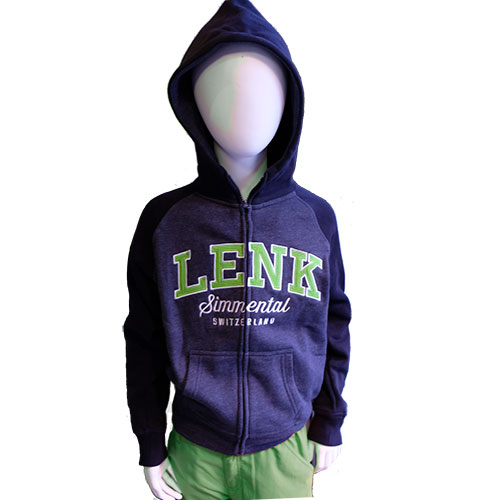 Lenk Hoody mit grüner Schrift, Kinder