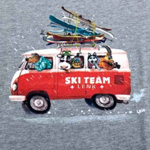 Kinder T-Shirt mit Bus, Ski-Team Lenk