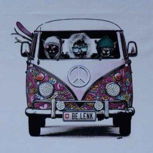 Lenk T-Shirt:VW Bus mit Cats