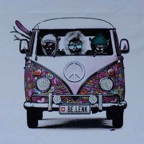 Lenk T-Shirt:VW Bus mit Cats